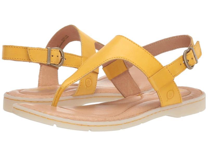 ボーン レディース サンダル シューズ Taylor Yellow Full Grain Leather