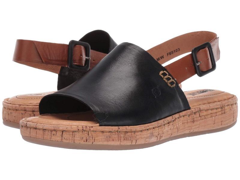 ボーン レディース サンダル シューズ Fremont Black/Brown Full Grain Leather Combo