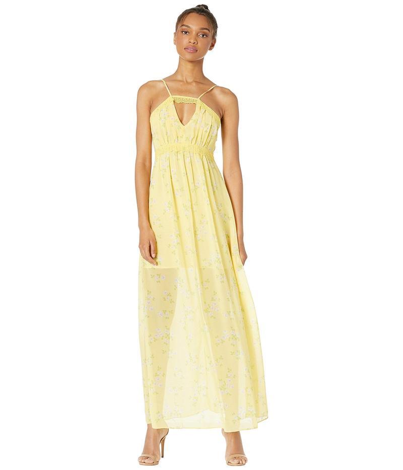 BCBジェネレーション レディース ワンピース トップス Lace Trim Maxi Dress - TWW6196478 Banana