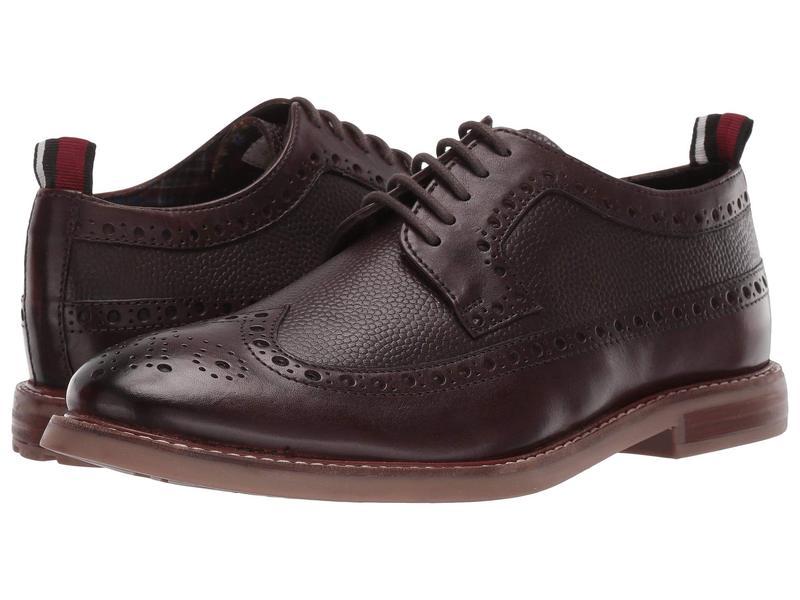 ベンシャーマン メンズ オックスフォード シューズ Brent Longwing Chocolate Leather