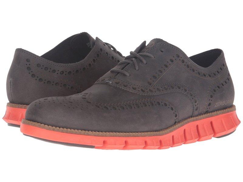 コールハーン メンズ オックスフォード シューズ Zerogrand Wing Oxford Pavement Leather/Spicy Orange