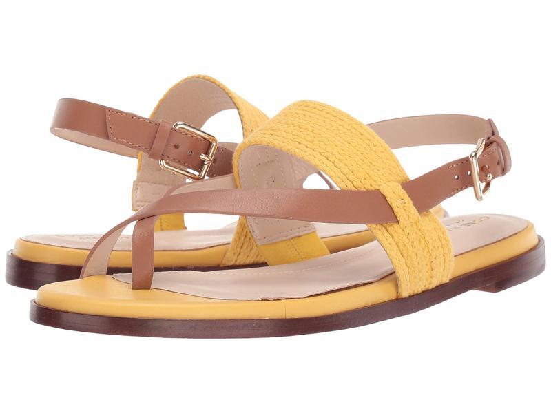 コールハーン レディース サンダル シューズ Anica Thong Sandal Bright Yellow/Pecan