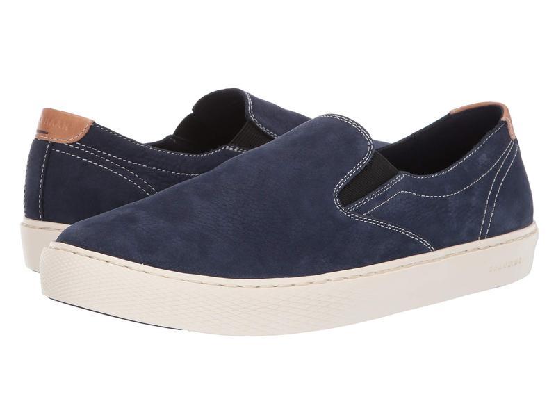 コールハーン メンズ スニーカー シューズ Grandpro Deck Slip-On Sneaker Marine Blue Nubuck