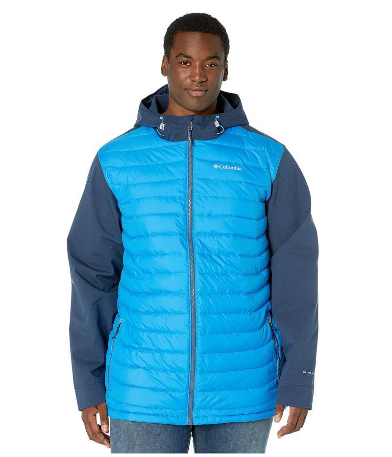 コロンビア メンズ コート アウター Big & Tall Powder Lite¢ Hybrid Jacket Azure Blue/Collegiate Navy Heather/Dark Mountain Pop