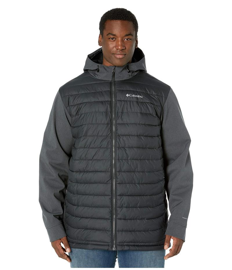 コロンビア メンズ コート アウター Big & Tall Powder Lite¢ Hybrid Jacket Black/Black Heather