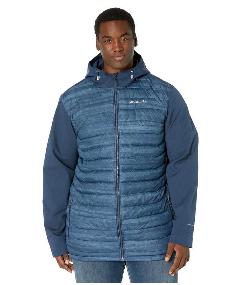 コロンビア メンズ コート アウター Big & Tall Powder Lite¢ Hybrid Jacket Collegiate Navy Heather Stripe Print/Collegiate Navy Heather