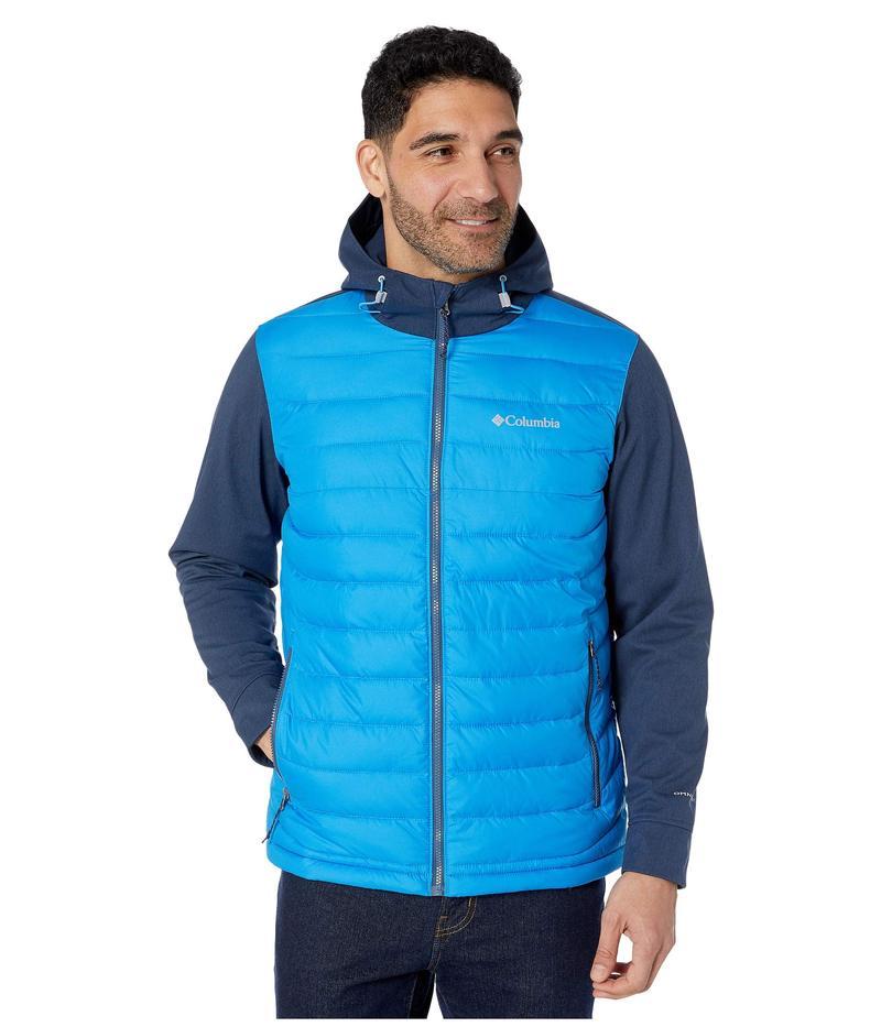 コロンビア メンズ コート アウター Powder Lite¢ Hybrid Jacket Azure Blue/Collegiate Navy Heather/Dark Mountain Pop