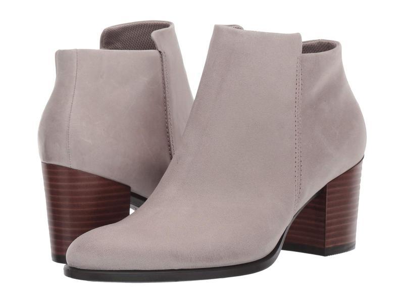 エコー レディース ブーツ・レインブーツ シューズ Shape 55 Stacked Heel Ankle Boot Moon Rock Nubuck Leather