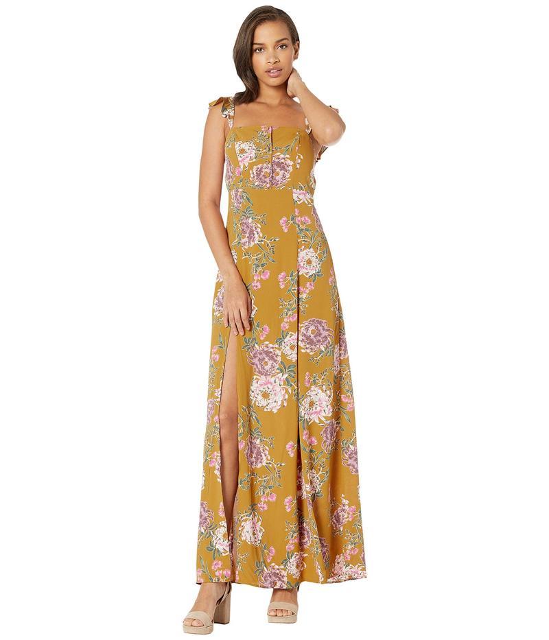 フリンスカイ レディース ワンピース トップス Bardot Maxi Dress Golden Hour