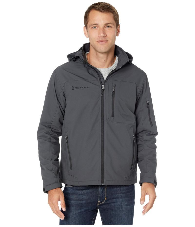 フリー カントリー メンズ コート アウター Super Softshell Jacket with Detachable Hood Charcoal
