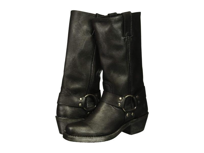 フライ レディース ブーツ・レインブーツ シューズ Harness 12R Black Multi Metallic Oiled Leather