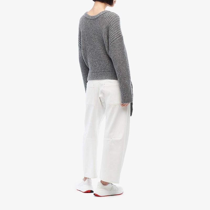 ジェイソンウー レディース ニット・セーター アウター Extrafine Merino Wool Knit Sweater Top Heather Grey