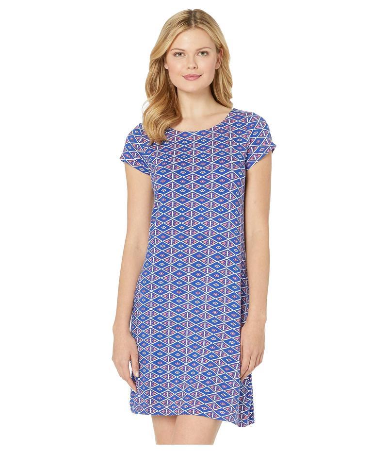 ハットレイ レディース ワンピース トップス Nellie Dress Triangle Stamps Blue