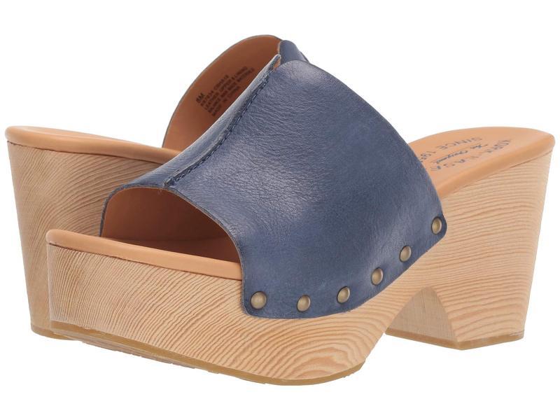コークイーズ レディース ヒール シューズ Waone Navy Full Grain Leather