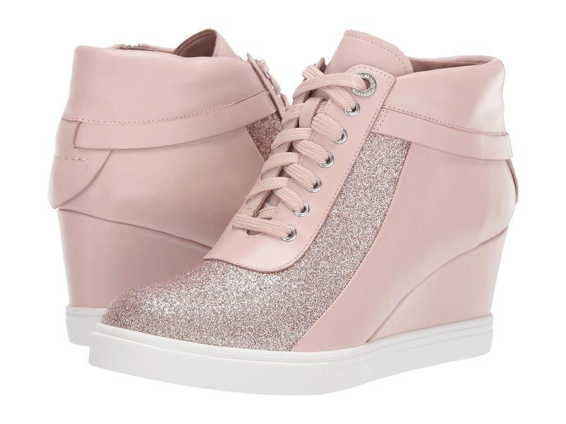 リネアパウロ レディース スニーカー シューズ Freja Wedge Sneaker Pink Leather/Glisten Leather