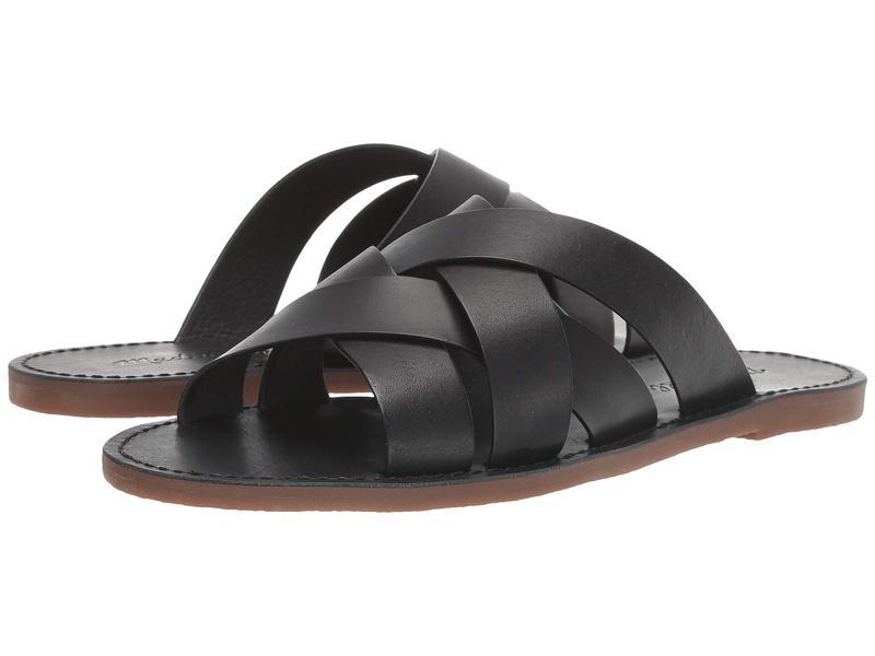 メイドウェル レディース サンダル シューズ The Boardwalk Woven Slide Sandal True Black