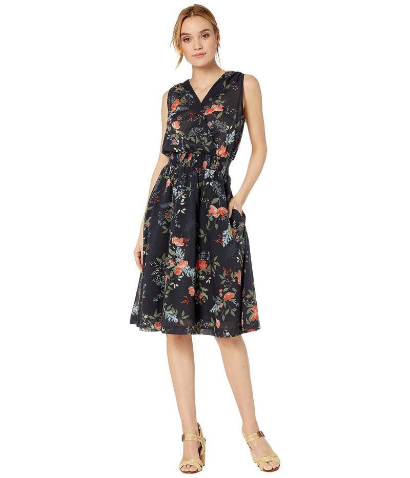 マイケルスターズ レディース ワンピース トップス Kinsley Floral Clover Surplice Midi Dress Admiral Multi