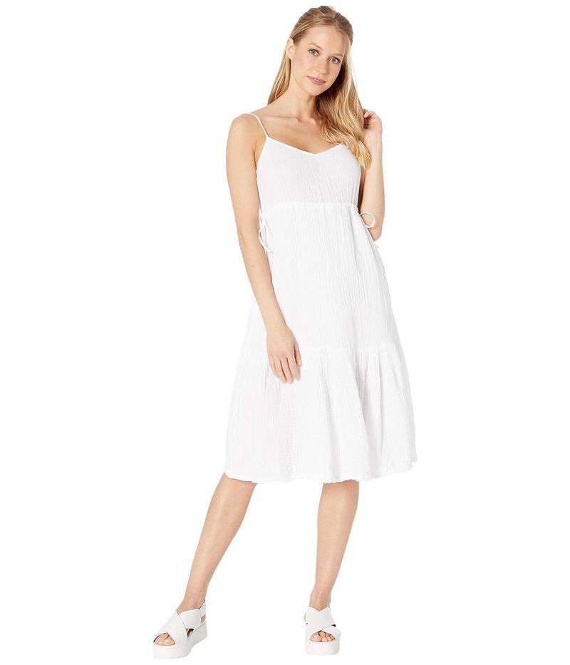 マイケルスターズ レディース ワンピース トップス Double Gauze Giovanni Tie Waist Midi Dress White
