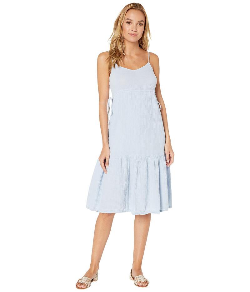 マイケルスターズ レディース ワンピース トップス Double Gauze Giovanni Tie Waist Midi Dress Zen Blue