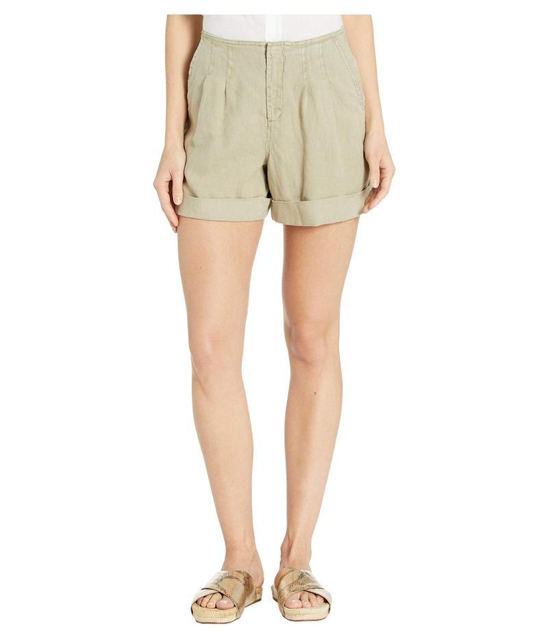 マイケルスターズ レディース ハーフパンツ・ショーツ ボトムス Woven Linen Utility A-Line Mid-Rise Shorts Olive