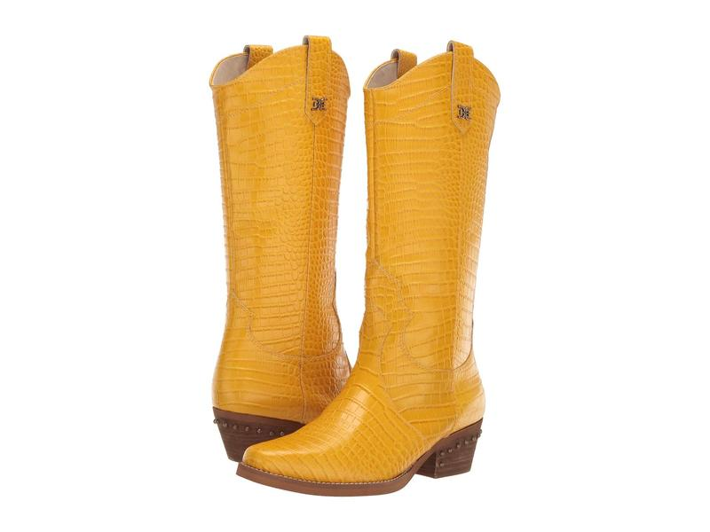 サムエデルマン レディース ブーツ・レインブーツ シューズ Oakland Dijon Yellow Kenya Croco Embossed Leather