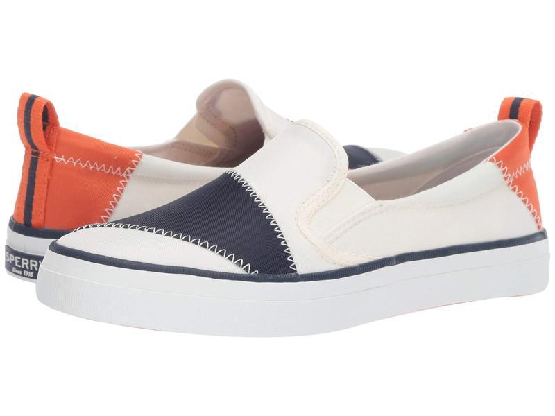 スペリー レディース スニーカー シューズ Crest Twin Gore BIONIC White/Navy/Orange