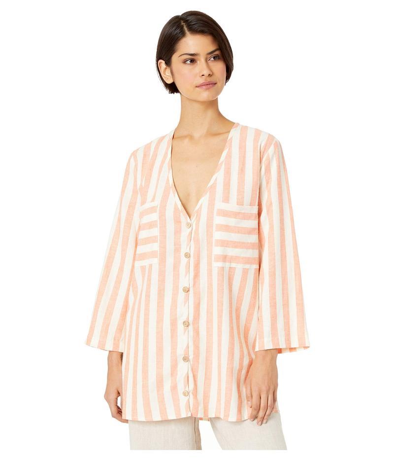 ウミーユアムーム レディース シャツ トップス Dahli Tunic Dreamsicle Stripe Linen
