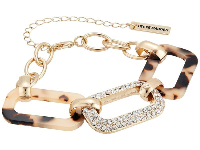 スティーブ マデン レディース 腕時計 アクセサリー Bracelet, Earrings Set and Acetate Watch Set SMWS089 Gold