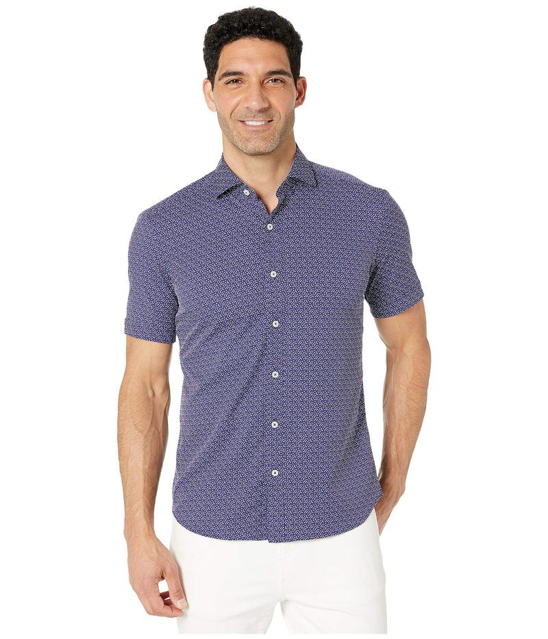 ブガッチ メンズ シャツ トップス Weekend Performance Short Sleeve Button Up Shirt Navy
