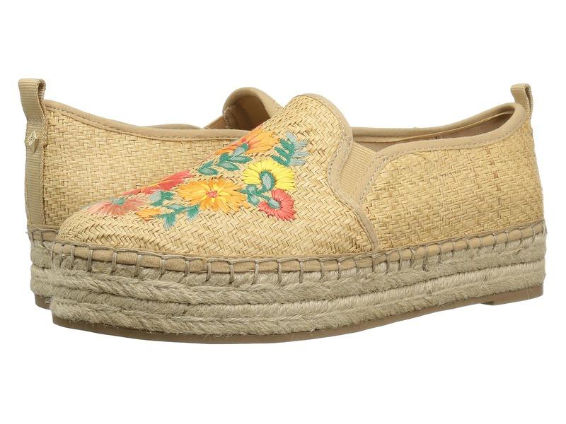サムエデルマン レディース スリッポン・ローファー シューズ Carrin 3 Natural Basket Weave Raffia/Bright Multi Riveria Floral Raffia