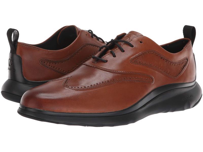 コールハーン メンズ スニーカー シューズ 3.Zerogrand Wingtip Oxford British Tan Leather/Dark Roast/Black