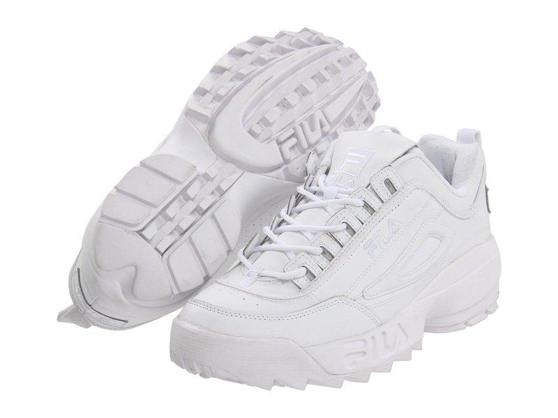 フィラ メンズ スニーカー シューズ Strada Disruptor White/White/White