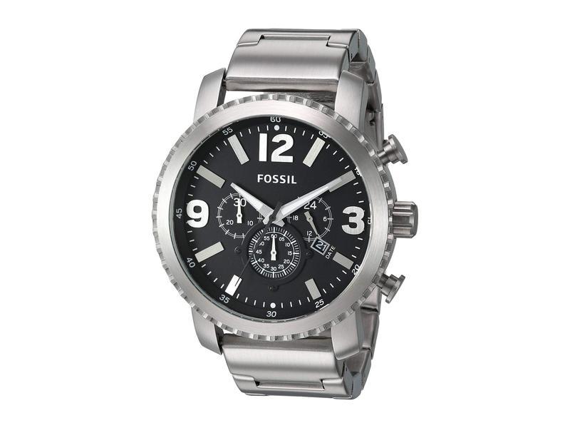 フォッシル メンズ 腕時計 アクセサリー Gage Chronograph Stainless Steel Watch - BQ1708 Silver