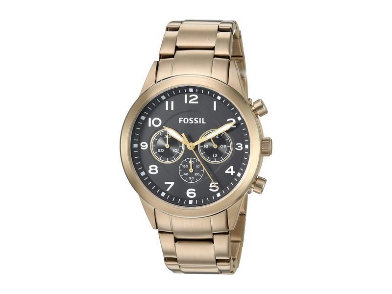 フォッシル メンズ 腕時計 アクセサリー Flynn Pilot Stainless Steel Watch - BQ2121 Gold