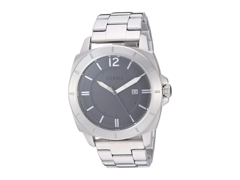フォッシル メンズ 腕時計 アクセサリー Privateer Sport Three-Hand Date Stainless Steel Watch - BQ2320 Silver
