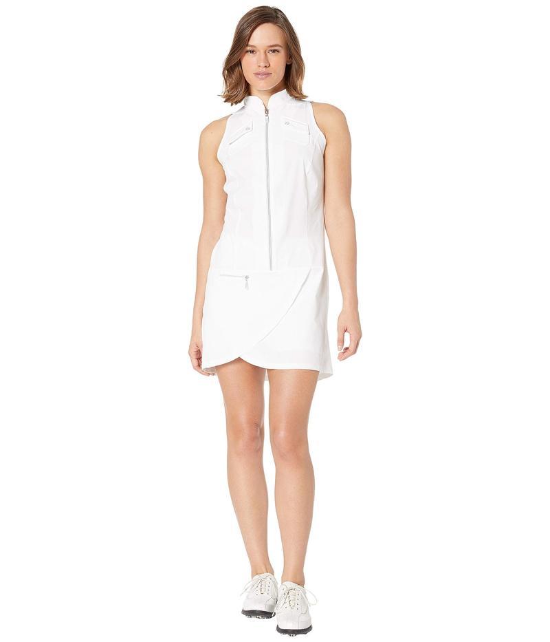 ジャイミーサドック レディース ワンピース トップス Airwear Lightweight Sleeveless Dress with Shorties Sugar White