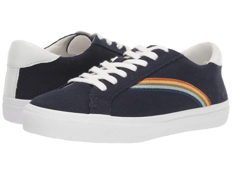 メイドウェル レディース スニーカー シューズ Sidewalk Low Top Sneakers Deep Navy Rainbow Embroidery