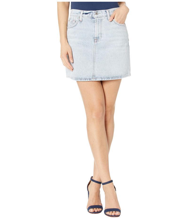 セブンフォーオールマンカインド レディース スカート ボトムス Mini Skirt in Cloud Blue Cloud Blue