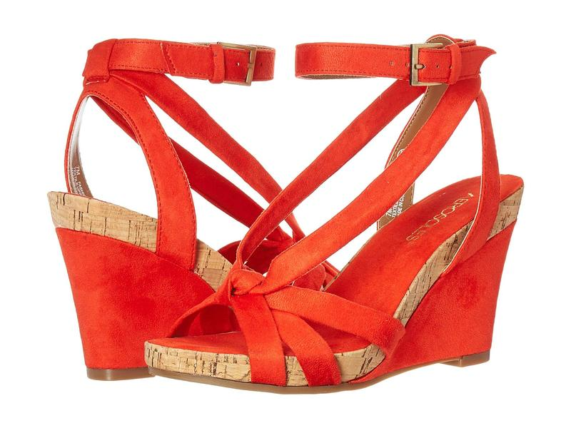 エアロソールズ レディース ヒール シューズ Fashion Plush Orange Fabric