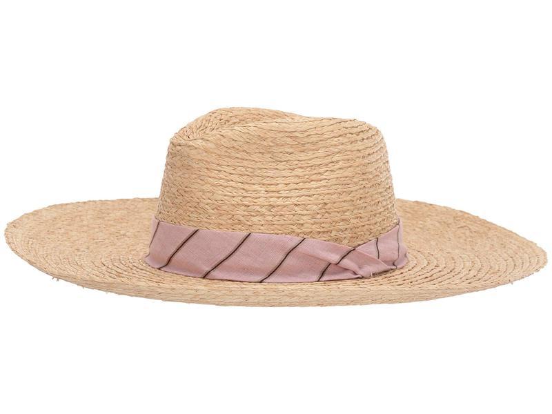 ラグアンドボーン レディース 帽子 アクセサリー Sewn Straw Panama Hat Pink Multi