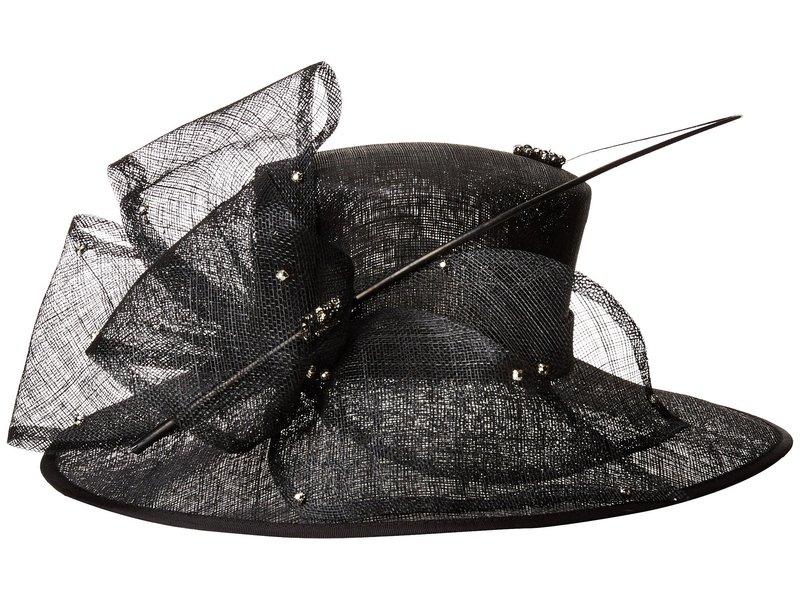 送料無料 サイズ交換無料 スカラ レディース アクセサリー 帽子 Black スカラ レディース 帽子 アクセサリー Big Brim w/ Rhinestones Black