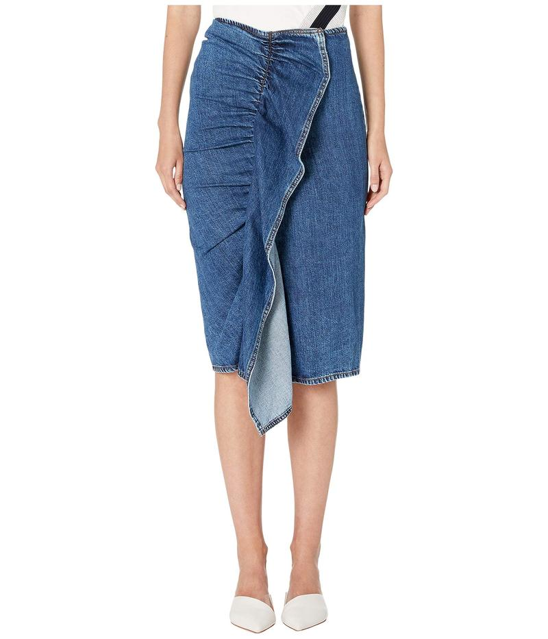 スポーツマックス レディース スカート ボトムス Ariccia Denim Ruffle Skirt Midnight Blue