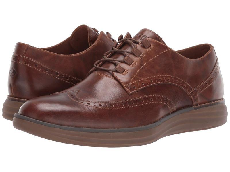 スペリー メンズ オックスフォード シューズ Regatta Wingtip Oxford Brown Leather