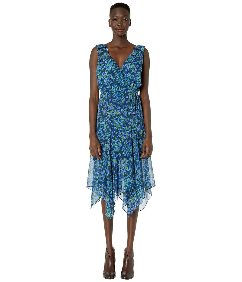 ザ・クープルス レディース ワンピース トップス Camelia Print Maxi Asymmetrical Dress Navy