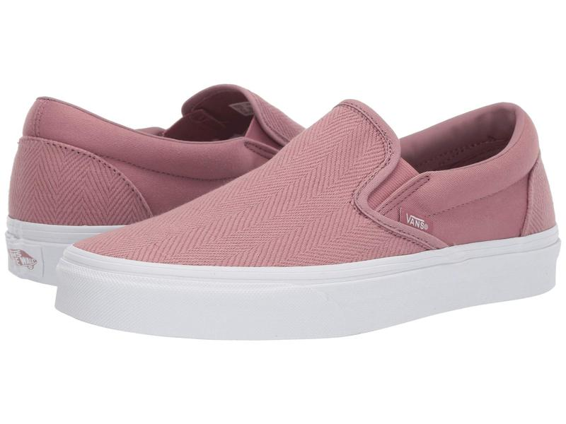 バンズ メンズ スニーカー シューズ Classic Slip-On¢ (Herringbone) Nostalgia Rose/True White