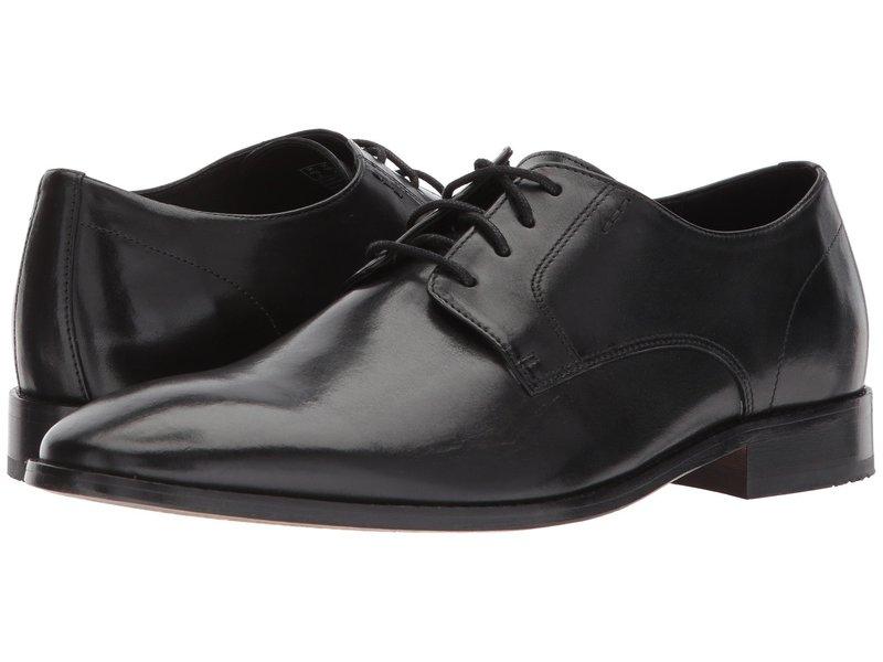 ボストニアン メンズ オックスフォード シューズ Nantasket Fly Black Leather