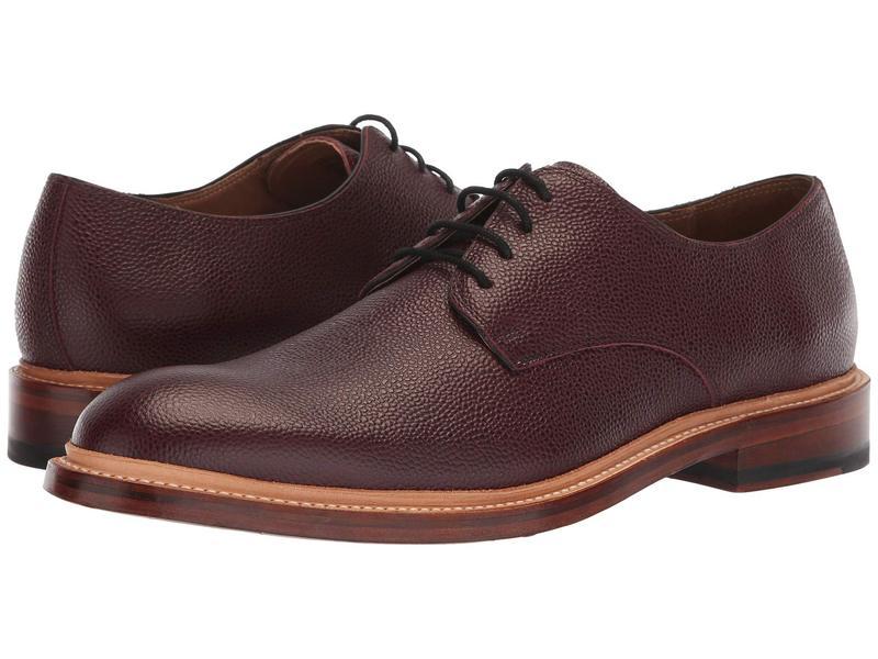 ボストニアン メンズ オックスフォード シューズ Somerville Low Burgundy Tumbled Leather
