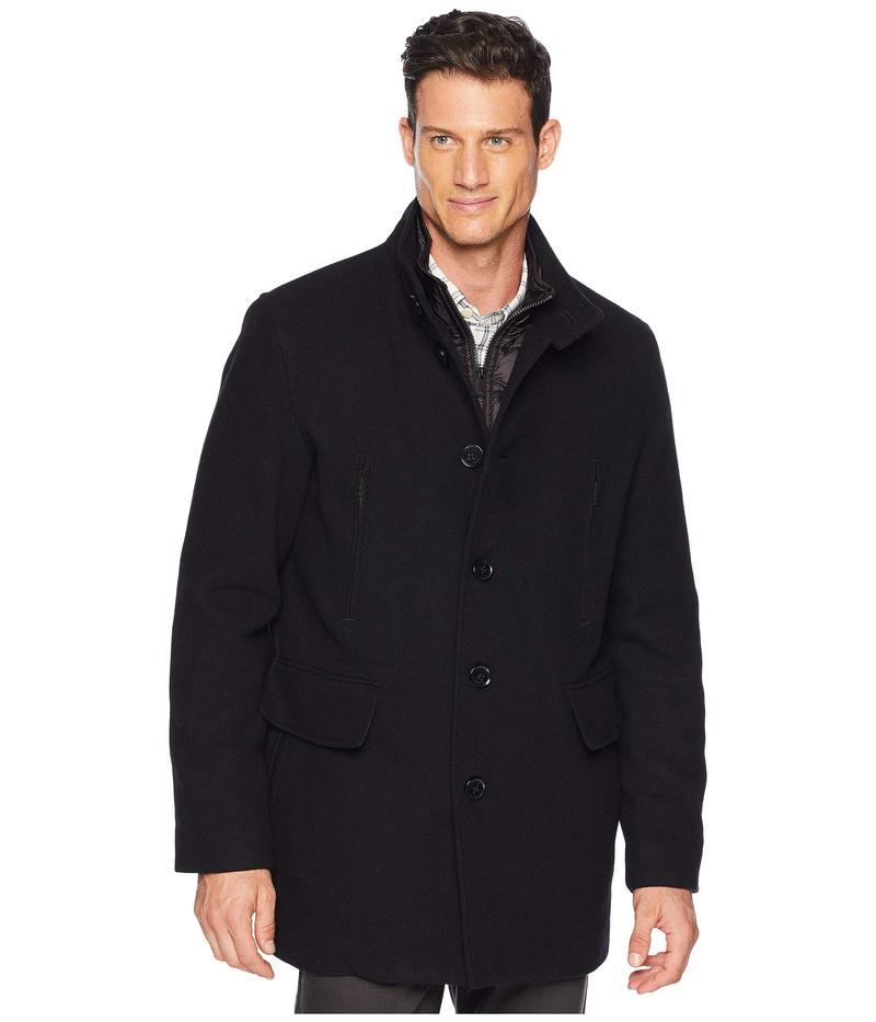 コールハーン メンズ コート アウター Wool Twill Jacket with Attached Bib Black