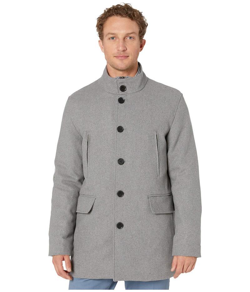 コールハーン メンズ コート アウター Wool Twill Jacket with Attached Bib Light Grey