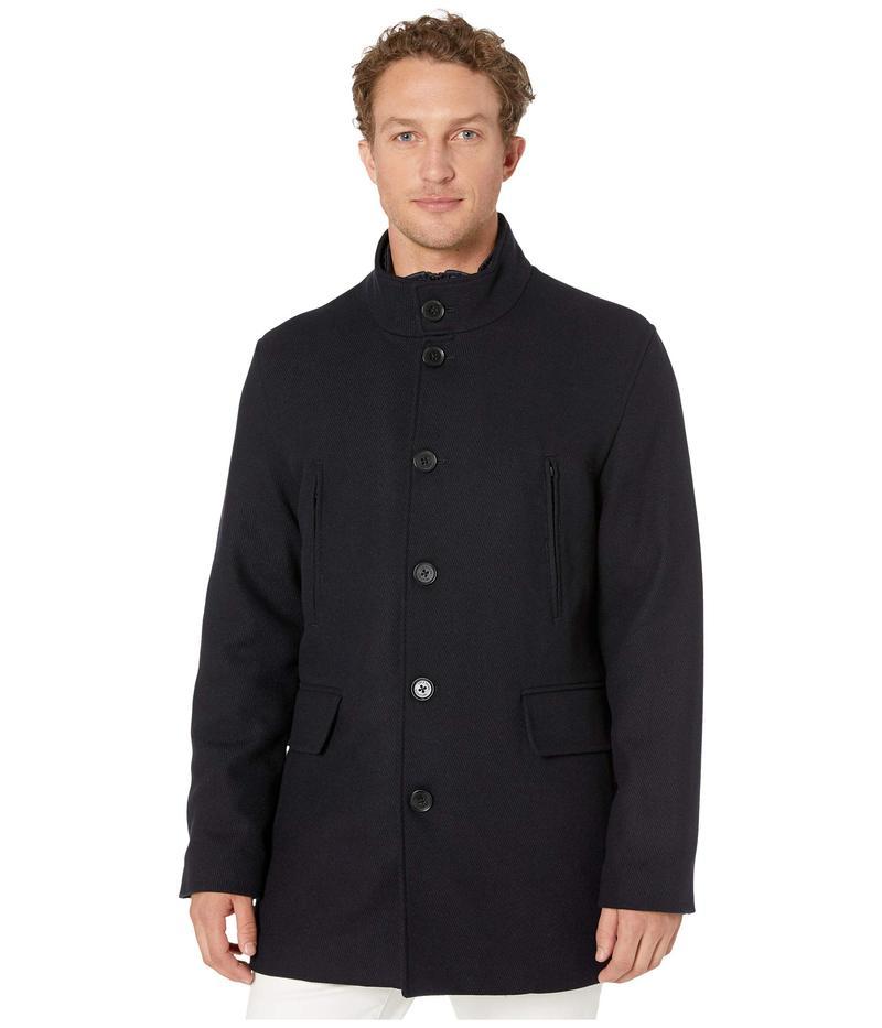 コールハーン メンズ コート アウター Wool Twill Jacket with Attached Bib Navy